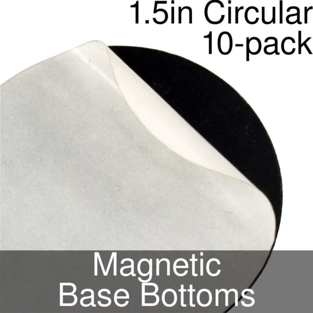 Miniature Base Bottoms, Circular, 1.5inch, Magnet (10) - LITKO Game Accessories