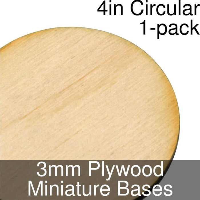 Miniature Bases, Circular, 4inch, 3mm Plywood (1) - LITKO Game Accessories