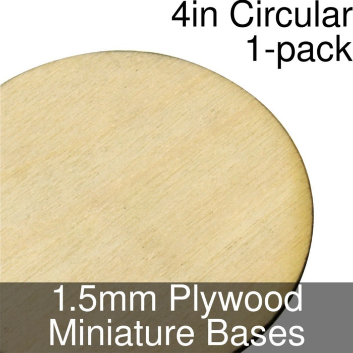 Miniature Bases, Circular, 4inch, 1.5mm Plywood (1) - LITKO Game Accessories