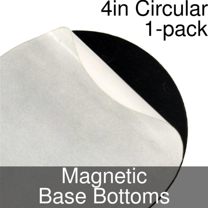 Miniature Base Bottoms, Circular, 4inch, Magnet (1) - LITKO Game Accessories