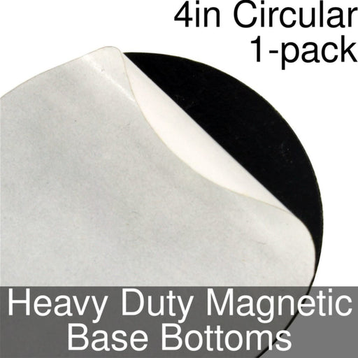 Miniature Base Bottoms, Circular, 4inch, Heavy Duty Magnet (1) - LITKO Game Accessories