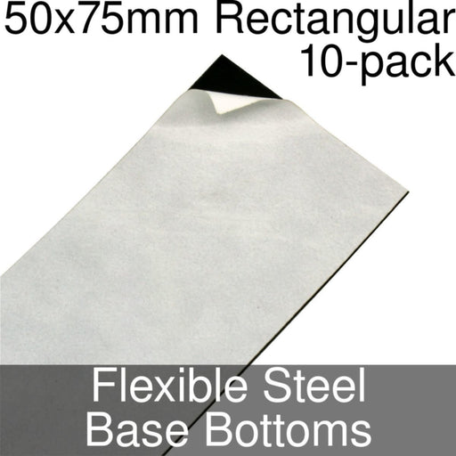 Miniature Base Bottoms, Rectangular, 50x75mm, Flexible Steel (10) - LITKO Game Accessories