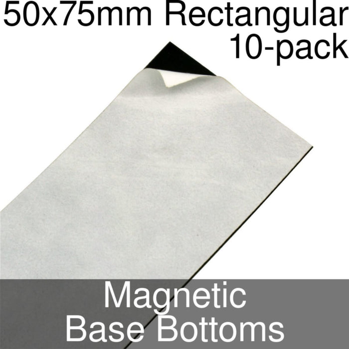 Miniature Base Bottoms, Rectangular, 50x75mm, Magnet (10) - LITKO Game Accessories