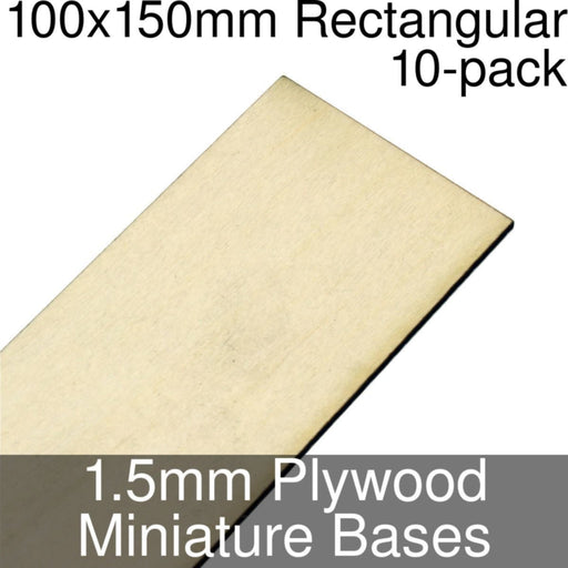 Miniature Bases, Rectangular, 100x150mm, 1.5mm Plywood (10) - LITKO Game Accessories
