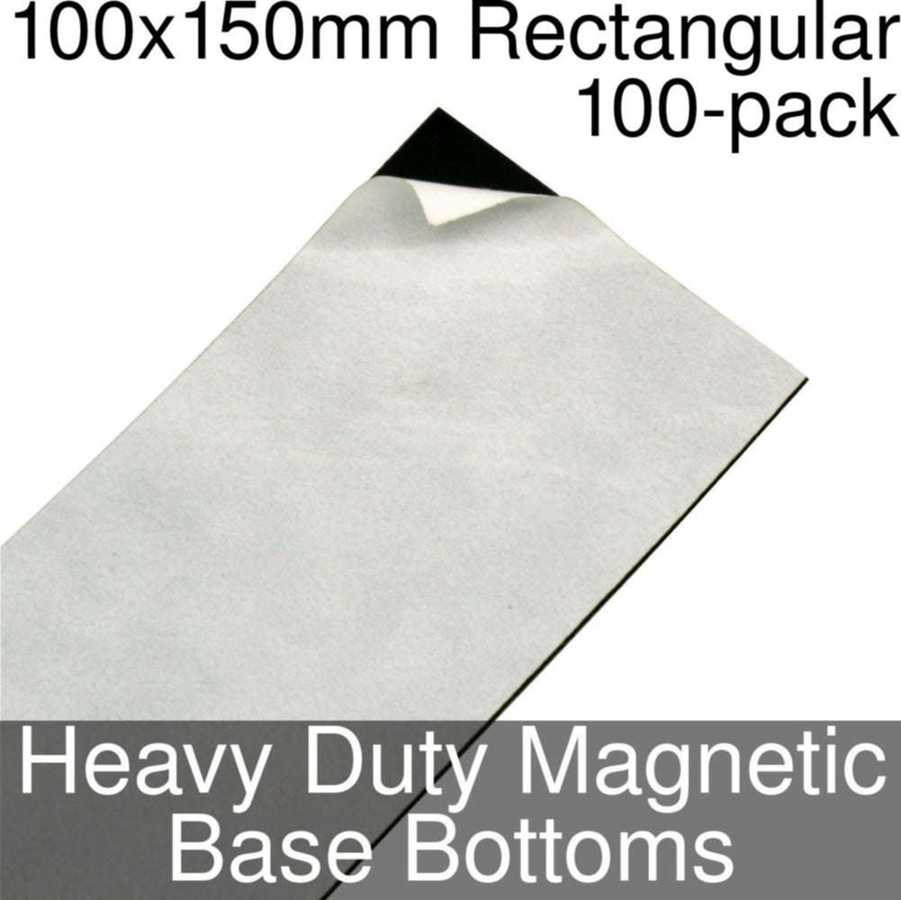 Miniature Base Bottoms, Rectangular, 100x150mm, Heavy Duty Magnet (100) - LITKO Game Accessories