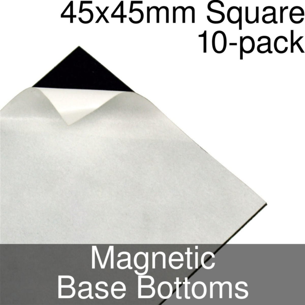 Miniature Base Bottoms, Square, 45x45mm, Magnet (10) - LITKO Game Accessories