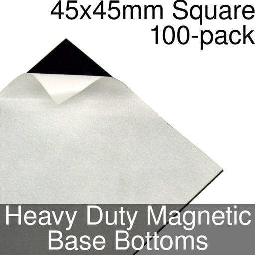 Miniature Base Bottoms, Square, 45x45mm, Heavy Duty Magnet (100) - LITKO Game Accessories
