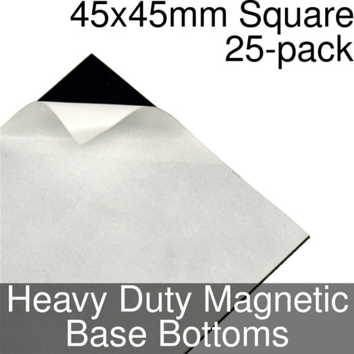 Miniature Base Bottoms, Square, 45x45mm, Heavy Duty Magnet (25) - LITKO Game Accessories