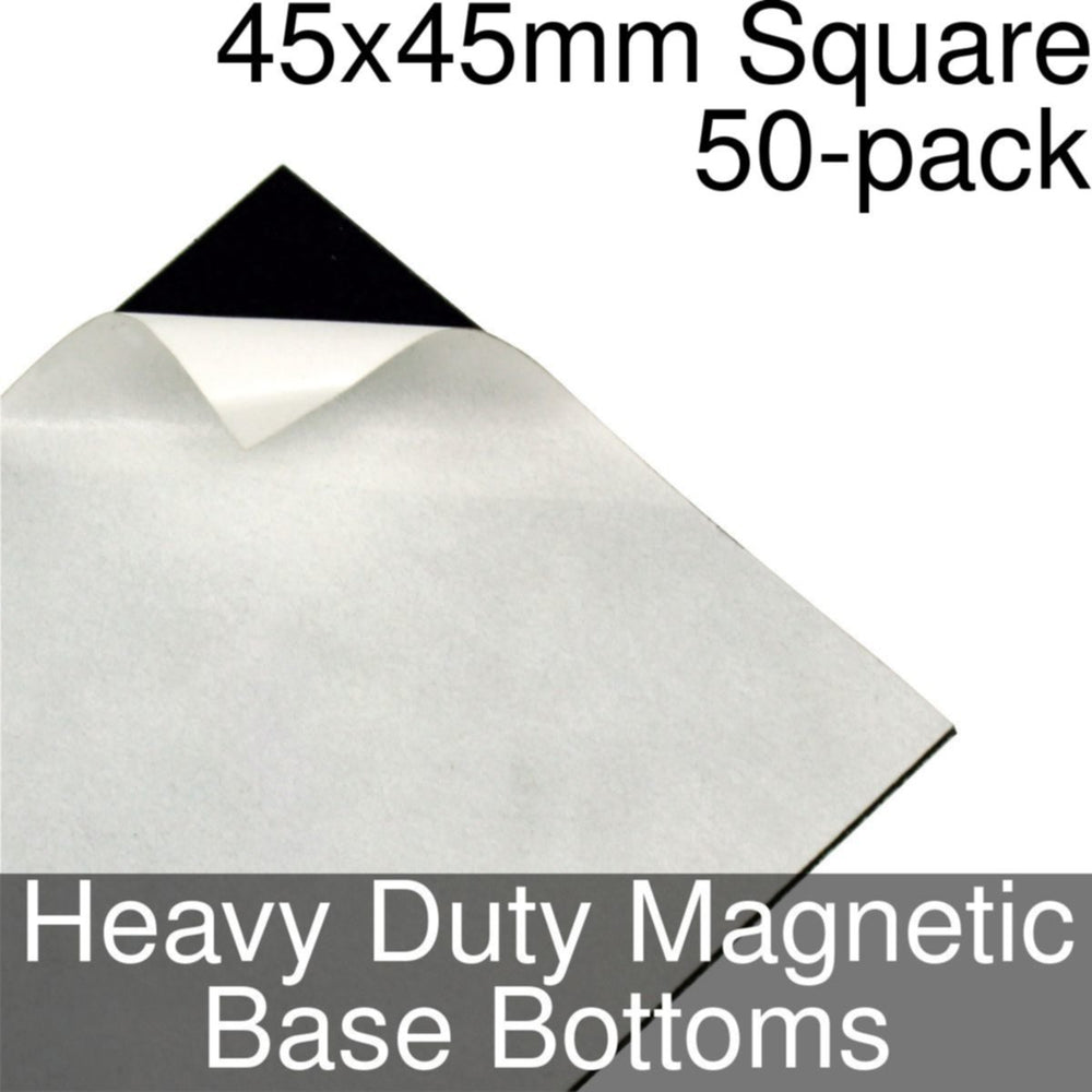 Miniature Base Bottoms, Square, 45x45mm, Heavy Duty Magnet (50) - LITKO Game Accessories