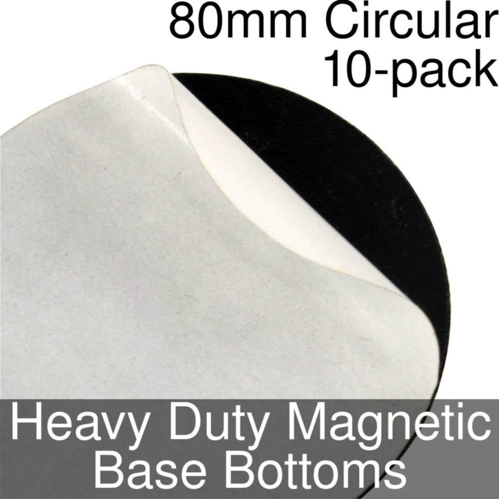 Miniature Base Bottoms, Circular, 80mm, Heavy Duty Magnet (10) - LITKO Game Accessories