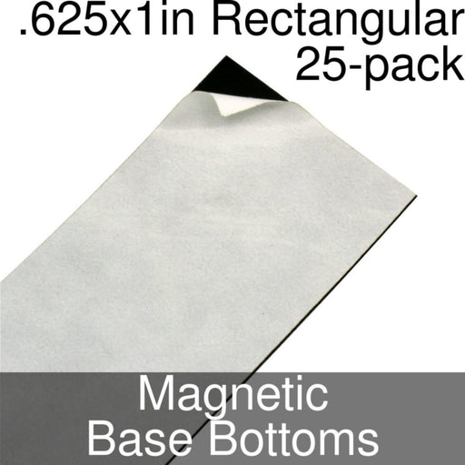Miniature Base Bottoms, Rectangular, .625x1inch, Magnet (25) - LITKO Game Accessories