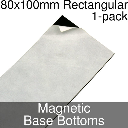 Miniature Base Bottoms, Rectangular, 80x100mm, Magnet (1) - LITKO Game Accessories