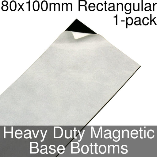 Miniature Base Bottoms, Rectangular, 80x100mm, Heavy Duty Magnet (1) - LITKO Game Accessories