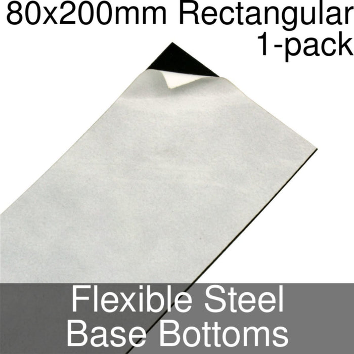 Miniature Base Bottoms, Rectangular, 80x200mm, Flexible Steel (1) - LITKO Game Accessories