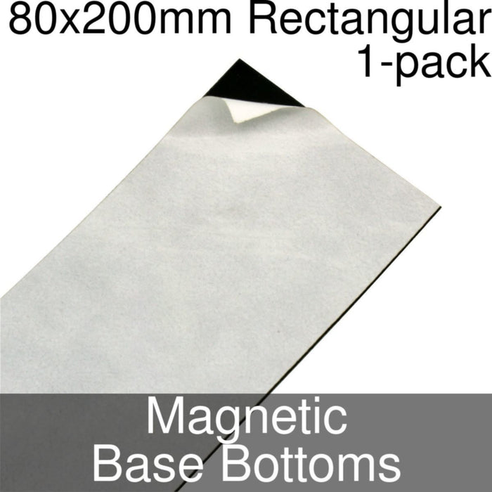 Miniature Base Bottoms, Rectangular, 80x200mm, Magnet (1) - LITKO Game Accessories