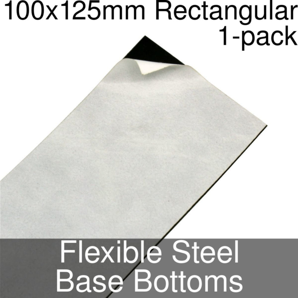 Miniature Base Bottoms, Rectangular, 100x125mm, Flexible Steel (1) - LITKO Game Accessories