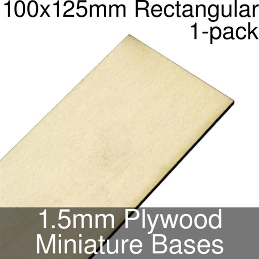 Miniature Bases, Rectangular, 100x125mm, 1.5mm Plywood (1) - LITKO Game Accessories