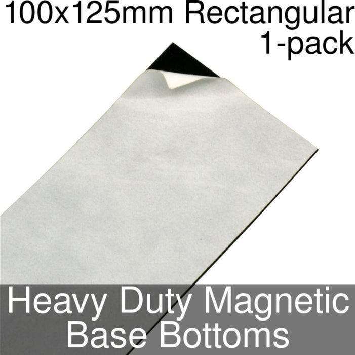 Miniature Base Bottoms, Rectangular, 100x125mm, Heavy Duty Magnet (1) - LITKO Game Accessories