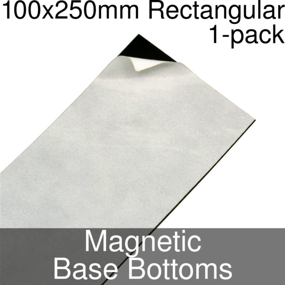 Miniature Base Bottoms, Rectangular, 100x250mm, Magnet (1) - LITKO Game Accessories