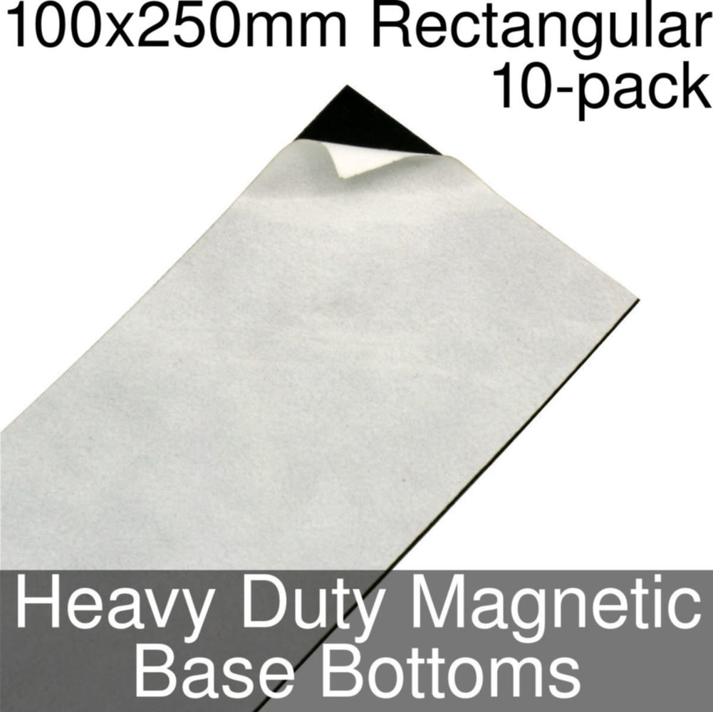 Miniature Base Bottoms, Rectangular, 100x250mm, Heavy Duty Magnet (10) - LITKO Game Accessories