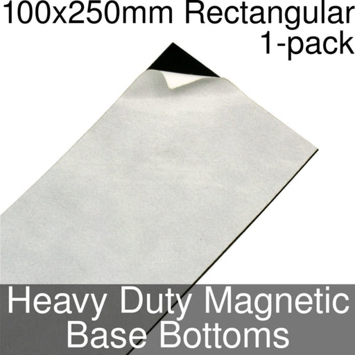 Miniature Base Bottoms, Rectangular, 100x250mm, Heavy Duty Magnet (1) - LITKO Game Accessories