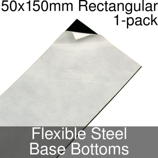 Miniature Base Bottoms, Rectangular, 50x150mm, Flexible Steel (1) - LITKO Game Accessories