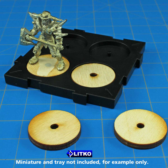 Rune Battles Infantry Miniatures Base, 3mm Plywood (25) - LITKO Game Accessories
