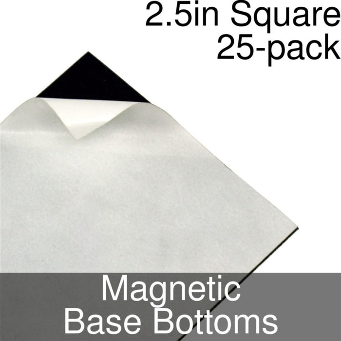 Miniature Base Bottoms, Square, 2.5inch, Magnet (25) - LITKO Game Accessories