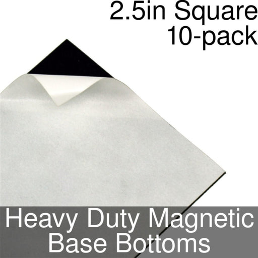 Miniature Base Bottoms, Square, 2.5inch, Heavy Duty Magnet (10) - LITKO Game Accessories