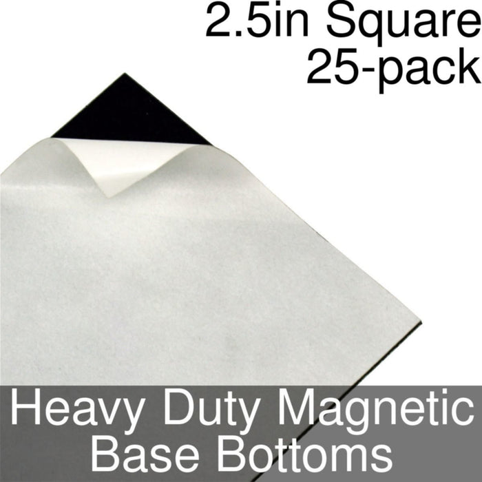 Miniature Base Bottoms, Square, 2.5inch, Heavy Duty Magnet (25) - LITKO Game Accessories