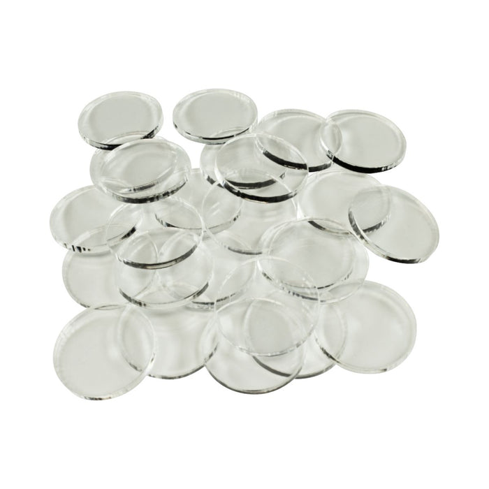 LITKO 28mm Circular Bases, 3mm Clear (25) - LITKO Game Accessories