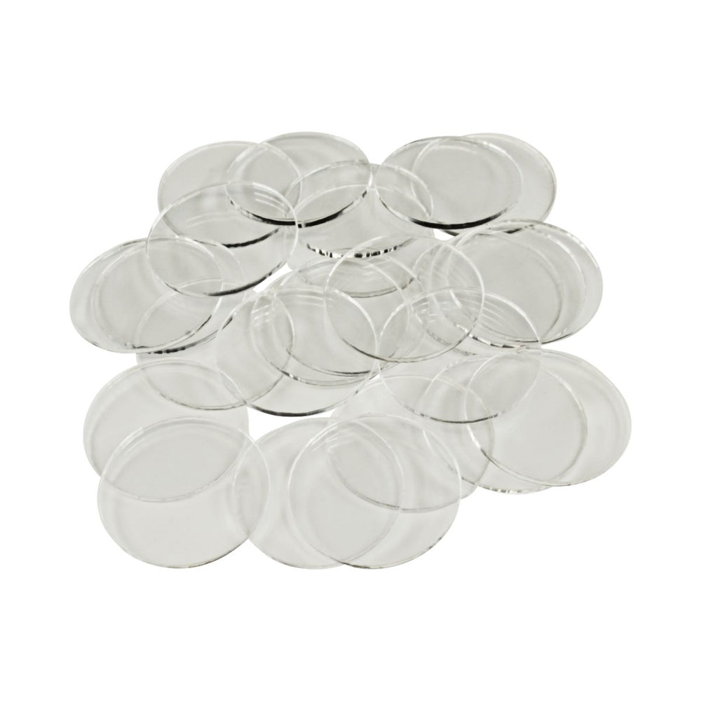 LITKO 28mm Circular Bases, 1.5mm Clear (25) - LITKO Game Accessories