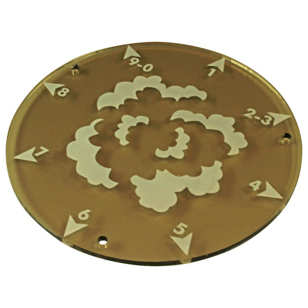 LITKO 120mm Directional Smoke Template, Transparent Bronze - LITKO Game Accessories