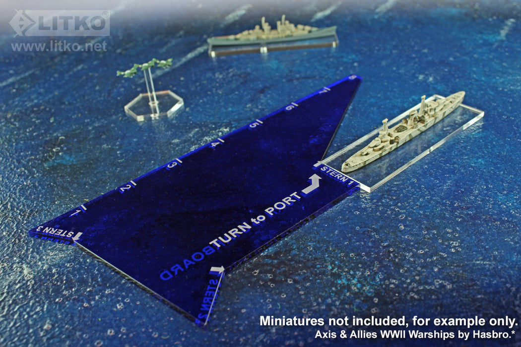 LITKO Naval Turn Key Template, Translucent Blue - LITKO Game Accessories