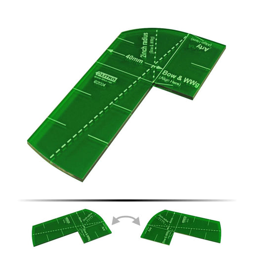 LITKO Fire Arc Gauge Compatible with DBx, Translucent Green - LITKO Game Accessories