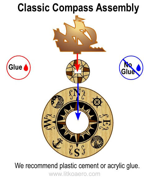 Classic Naval Compass - LITKO Game Accessories