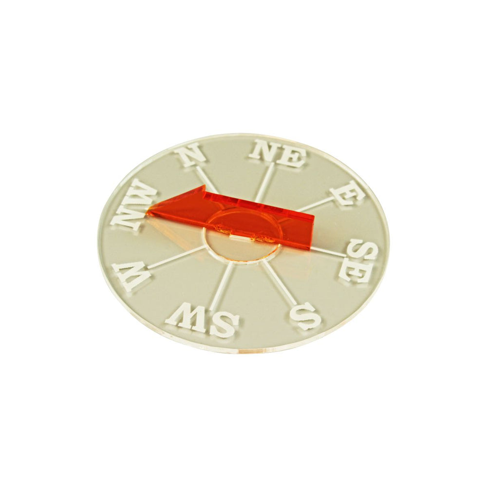 LITKO Compass Compatible with Trafalgar, 1.5mm Clear & Fluorescent Amber - LITKO Game Accessories