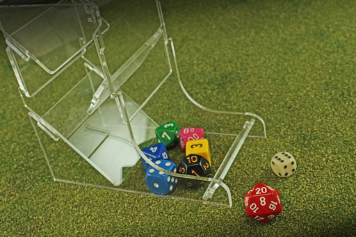 Fluorescent Pink Dice Tower - LITKO Game Accessories