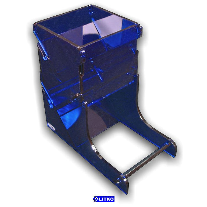 Translucent Blue Dice Tower - LITKO Game Accessories