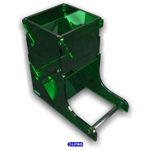 Translucent Green Dice Tower - LITKO Game Accessories