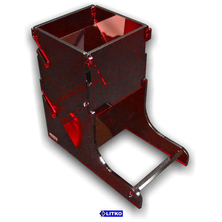 Translucent Red Dice Tower - LITKO Game Accessories