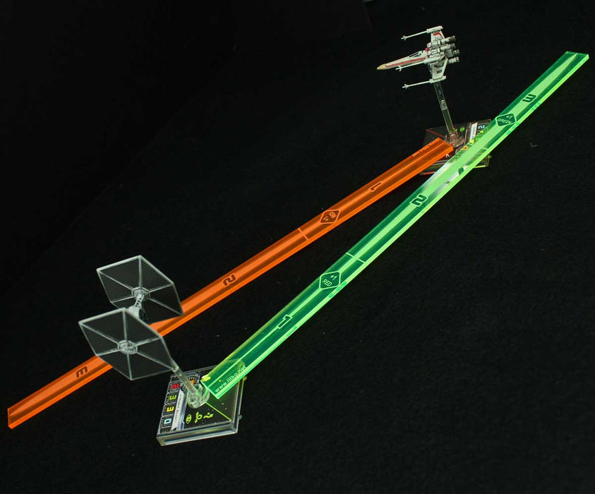 Space Fighter Range Fire Gauges (2) - LITKO Game Accessories