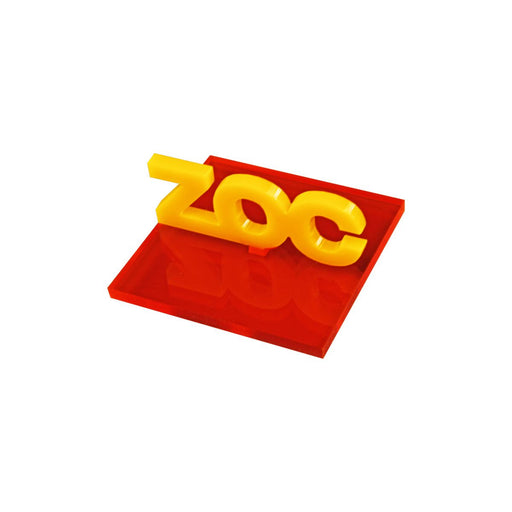 LITKO 40mm Zone of Control Template Compatible with DBx, Fluorescent Amber & Gold - LITKO Game Accessories