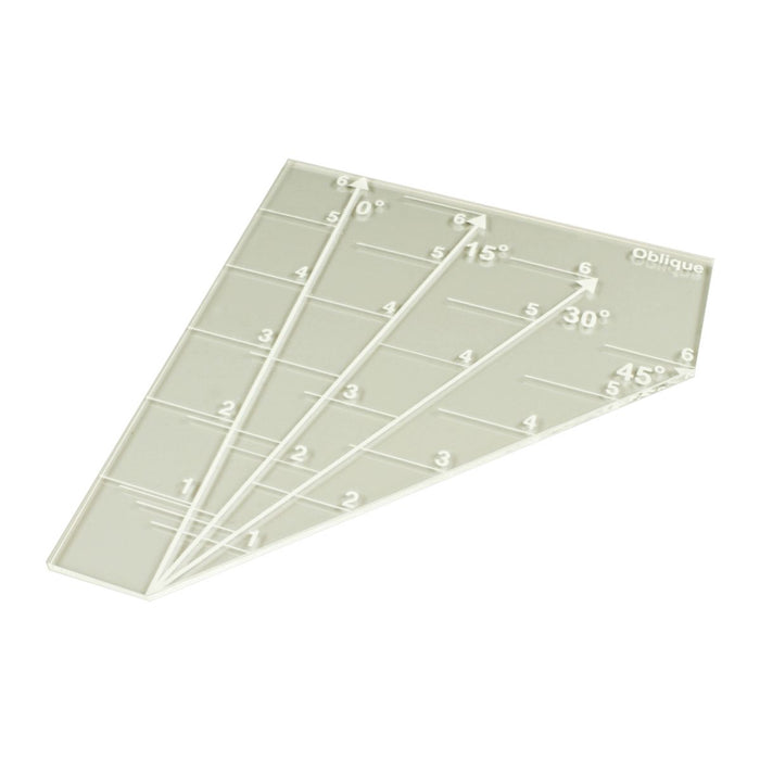 LITKO Oblique Template Compatible with Regimental Fire and Fury, Clear - LITKO Game Accessories