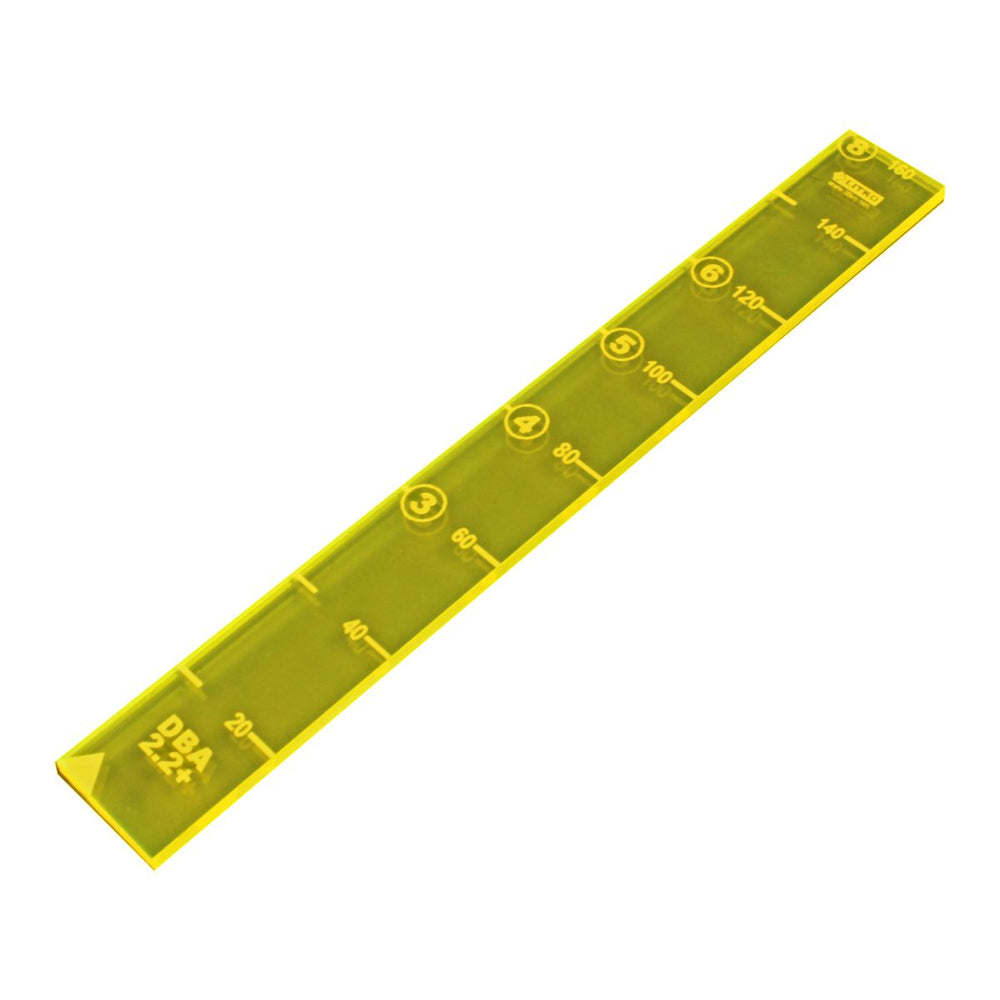 LITKO 20mm MU Ruler Compatible with DBA 2.2+, Fluorescent Yellow - LITKO Game Accessories