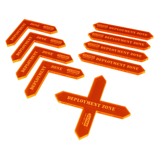 LITKO Deployment Zone Template Set, Fluorescent Orange (9) - LITKO Game Accessories
