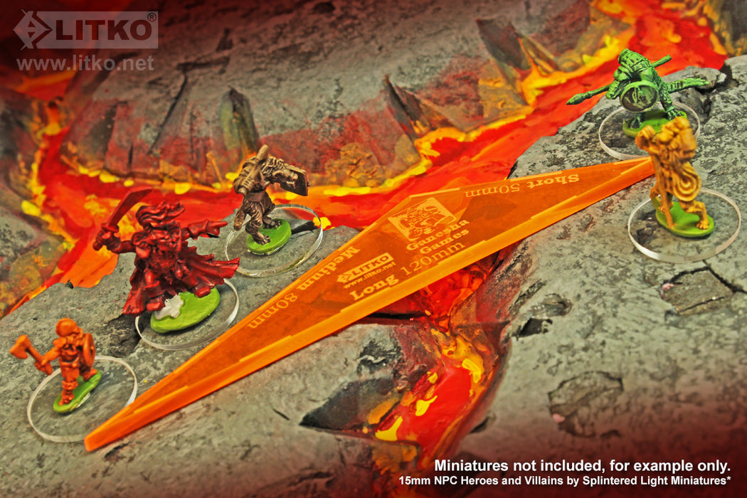 LITKO Song of Blades 15mm Gauge, Fluorescent Orange - LITKO Game Accessories