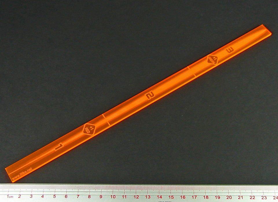 Space Fighter Range Fire Gauge, Fluorescent Orange - LITKO Game Accessories