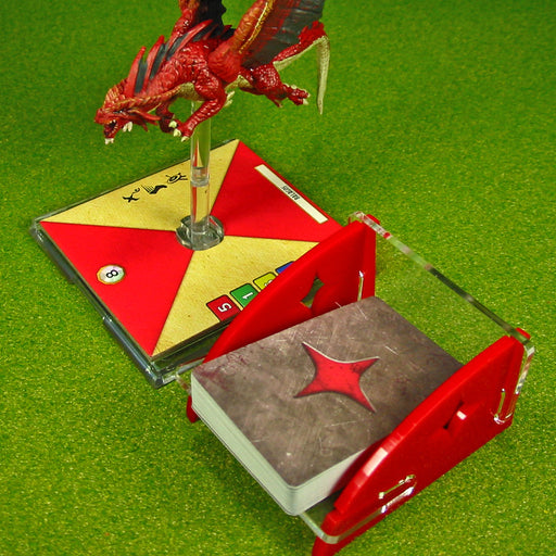 Mini Size Dragon Wing Damage Deck Tray (Short, Holds 40-60 Mini Sized Cards) - LITKO Game Accessories