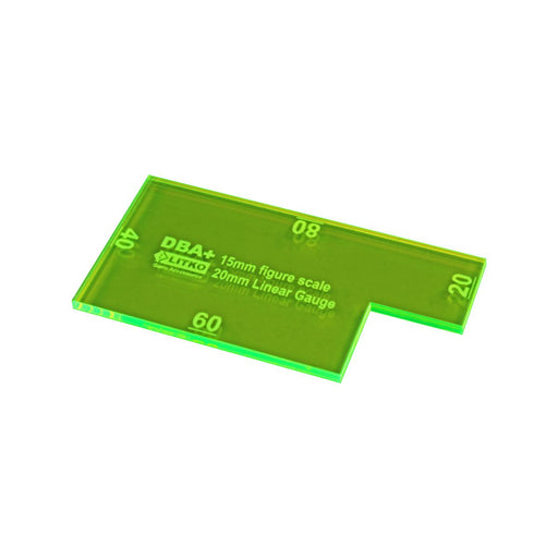 LITKO 20mm Linear Gauge Compatible with DBA+, Fluorescent Green - LITKO Game Accessories